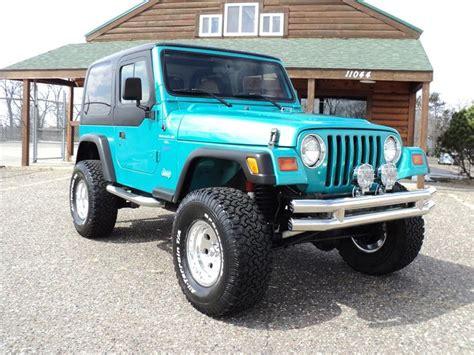 jeep wrangler turquoise 1997 jeep wrangler suv jeep cars lift