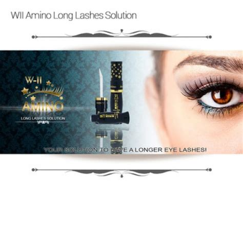 W Ii Amino Lashes Solution Penumbuh Penebal Bulu Alis Mata Alami 6 w ii amino lashes solution 1 botol asli ez shop tv