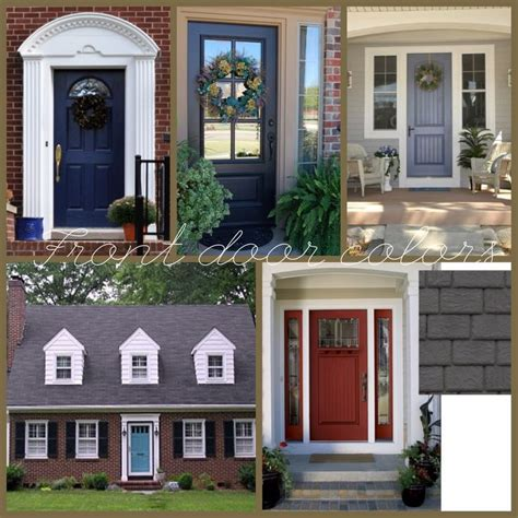 Front Door Colors For Brick House Brick House Black Shutters But What Color Door For The Home Blue Doors