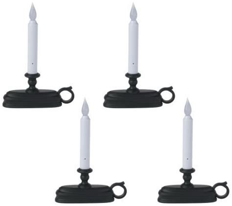 battery operated window candles with light sensor set of 4 batteryoperated cordless window candles w light