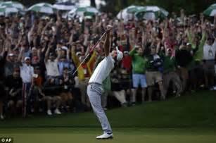 swing master golf masters 2013 adam scott wins with tiger woods former