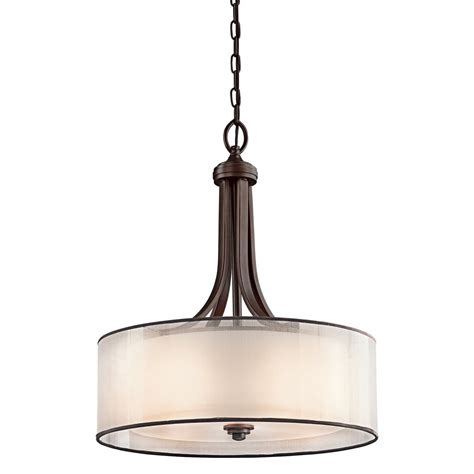 Lacey Bronze Ceiling Pendant Light Opal Glass Drum Shade Pendant Light Drum Shade