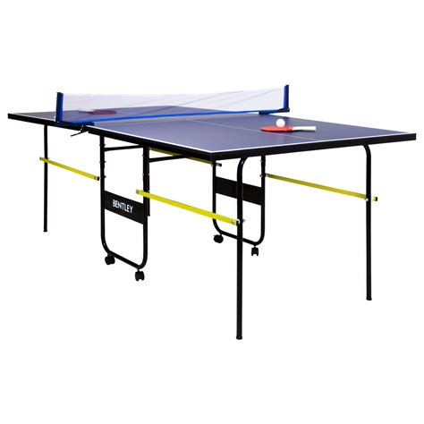 Folding Table Tennis Table Charles Bentley 3 4 Junior Folding Table Tennis Table 6ft9 Bats Balls Net Ebay