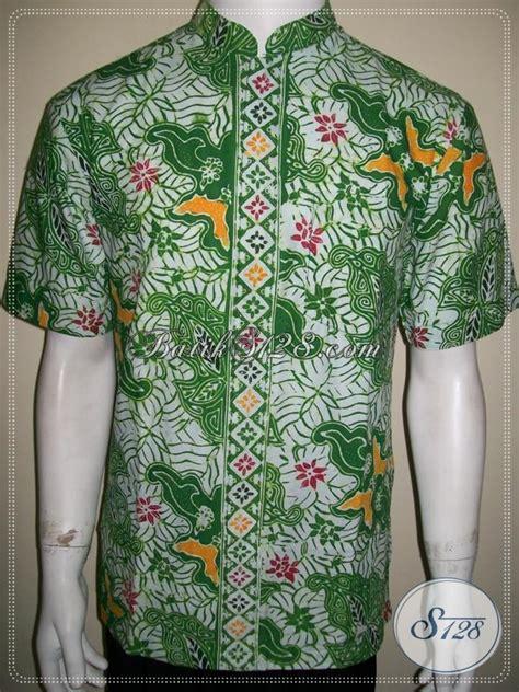 Koko Batik Pria Prodo baju batik koko pria modern warna hijau elegan ld1052cdk m toko batik 2018