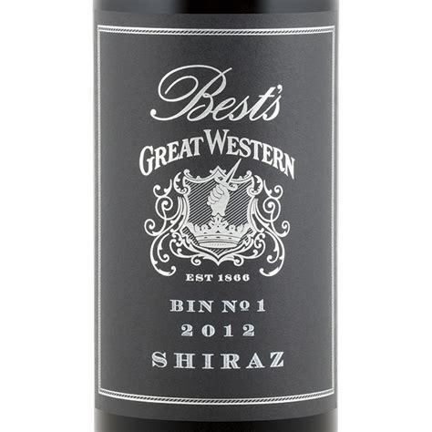 best great western best s great western bin no 1 shiraz 2012 expert wine