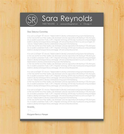 custom cover letter writing design job application