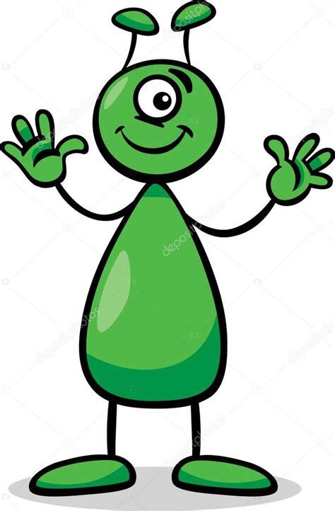 imagenes de extraterrestres verdes ilustraci 243 n de dibujos animados de extraterrestres o