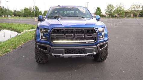 2017 ford f150 grill lights 2017 f 150 raptor grill led light bar custom accessories