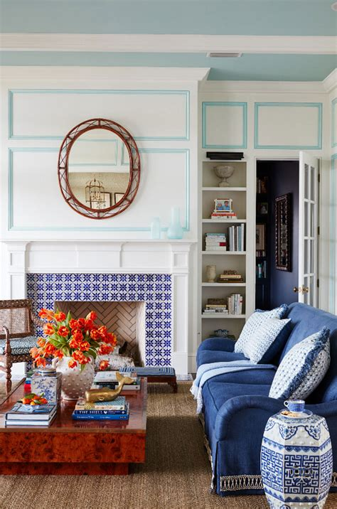 blue  white beach house design home bunch interior