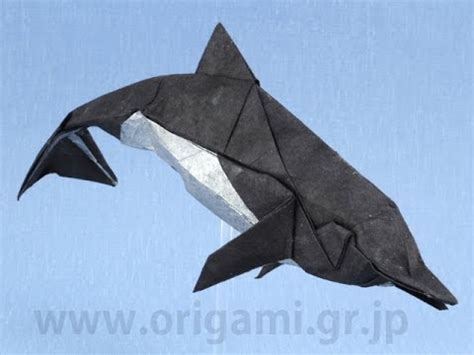 How To Make A Dolphin Out Of Paper - origami dolphin by fumiaki kawahata part 1