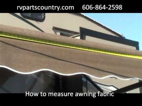 how to replace dometic awning fabric how to measure awning fabric youtube