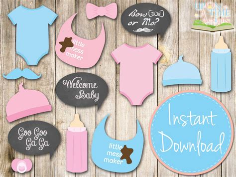 free printables for baby shower photo booth baby shower photobooth props printable baby by