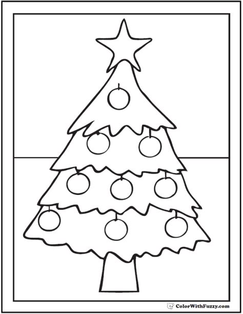 Christmas Tree Star Coloring Page Coloring Pages Ideas Tree Topper Coloring Page