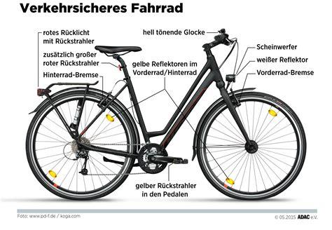 Beschriftung Verkehrssicheres Fahrrad by Mehr Sicherheit Mit Der Richtigen Ausr 252 Stung Mit Licht