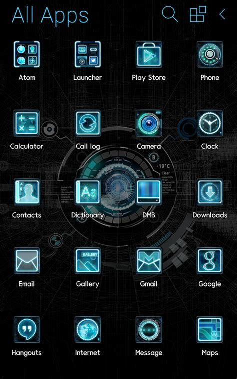 my photo themes apps black mechanic atom theme android apps on google play