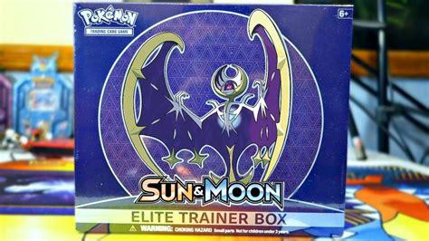 Elite Trainer Lunala lunala sun and moon elite trainer box opening