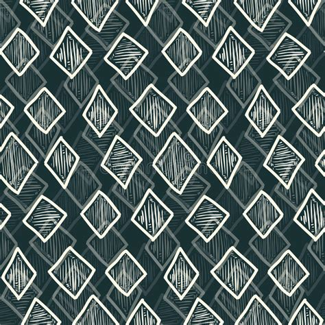 lozenge pattern texture abstract monochrome hand drawn rhombus pattern stock