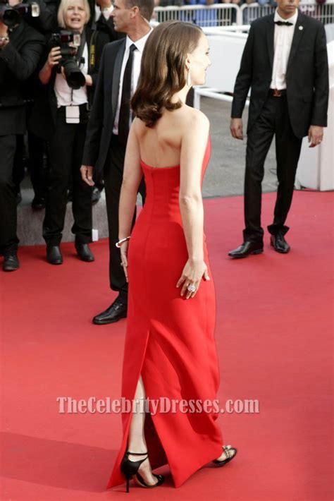 Get A Dress Like Natalie Portmans by Natalie Portman Strapless Formal Dress Cannes