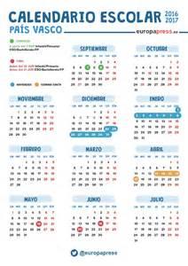 Calendario Laboral Guipuzcoa 2018 Calendario Escolar 2016 2017 En Euskadi Navidad Semana