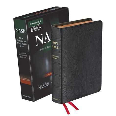 nasb bible cambridge nasb clarion reference bible black goatskin