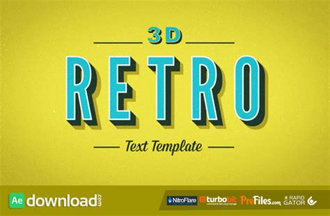 after effects free template kinetic typography 3d retro kinetic typography videohive project free