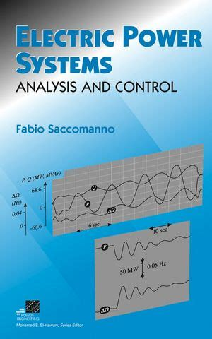 electric energy systems analysis and operation electric power engineering series books wiley electric power systems analysis and