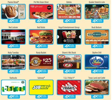 Gift Card System For Restaurants - earn 4x fuel points on restaurant gift cards at kroger i