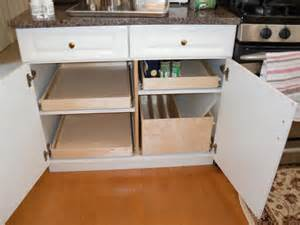 Kitchen Cabinet Pull Out Drawer by Pull Out Shelves And Pull Out Tray Bin Kitchen Drawer