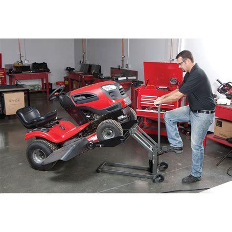 garden tractor lift table high lift lawn mower atv lift