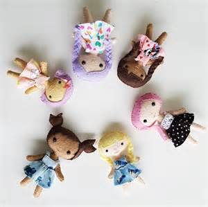 Handmade Toys Patterns - delilahiris handmade mini dolls and felt stuffed animals