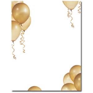 Christmas Laser Light Throw A Party Gold Balloons Letterhead
