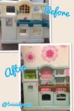 play kitchen quot renovation quot kitchen renovation diy plays play kitchen redo before and after pics at http