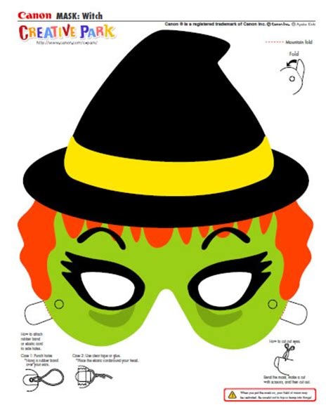free printable witch mask template best photos of halloween face mask template halloween