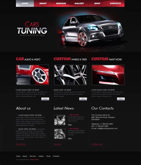 Car Tuning Website Template 28758 Speaker Website Templates
