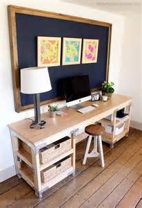 Diy Workstation Desk White Diy Desk Workbench Diy Projects