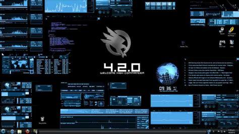 hacker theme download for pc rainmeter bluevision v0 2 customized desktop hacker