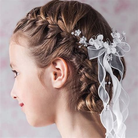 communion french braid bun 50 first communion hairstyles ideas hair motive hair motive