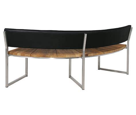 halbrunde sitzbank leder fixias gartenbank metall rund 155301 eine
