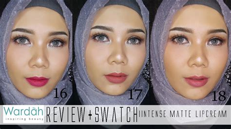 Lipstik Mirabella Matte swatches wardah exclusive matte lipcream no 16 17 18 bahasa