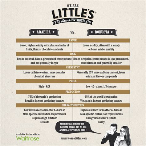 Coffee Robusta arabica vs robusta infographic what s the difference