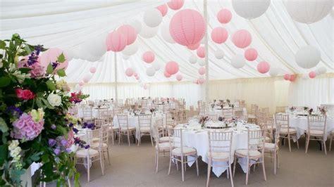Pink paper lantern, roze lampionnen. Wedding decoration