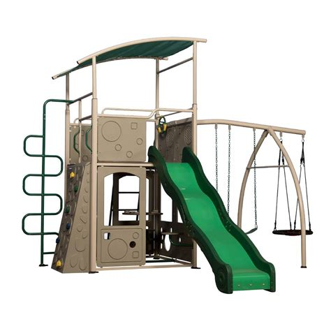 Backyard Discovery Grey Castle Backyard Discovery Castle Grey Swing Set Shop Your Way