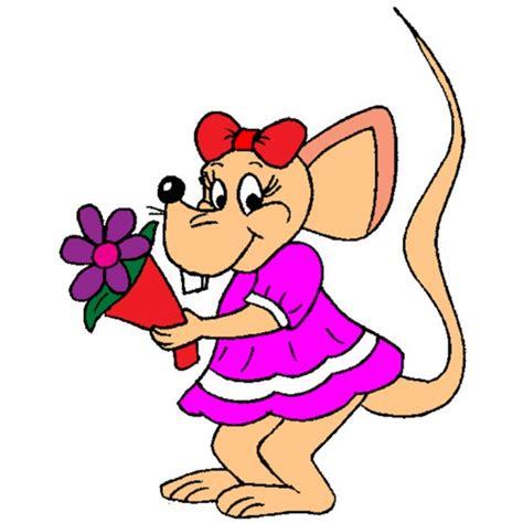 disegni di fiori a colori disegno di topolina con mazzo di fiori a colori per