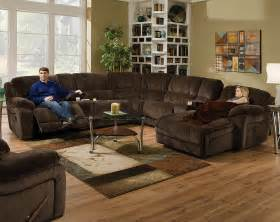 brown wrap around couch championship chocolate reclining sectional american freight