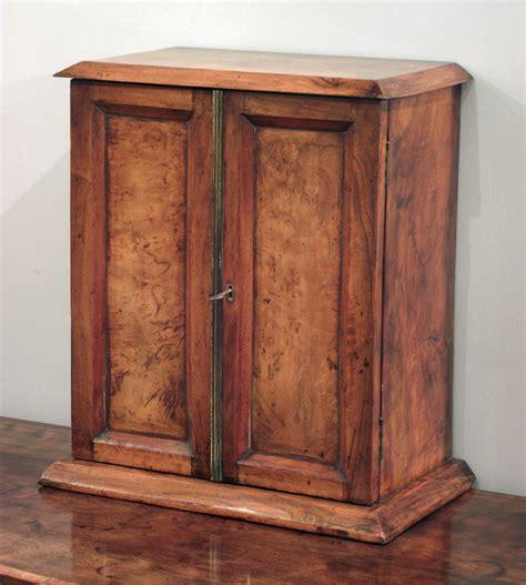 Walnut Corner Display Cabinet Antique Collectors Cabinet Antique Table Top Cabinet