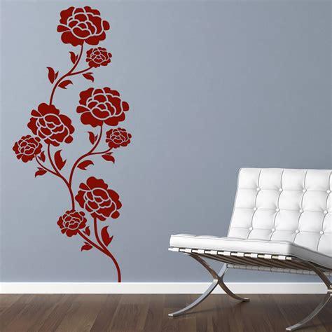 Flower Wall Stickers Uk flower rose wall sticker wall chimp uk