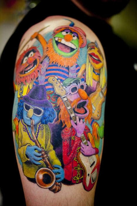 sesame and the muppets tattoos the tattooed