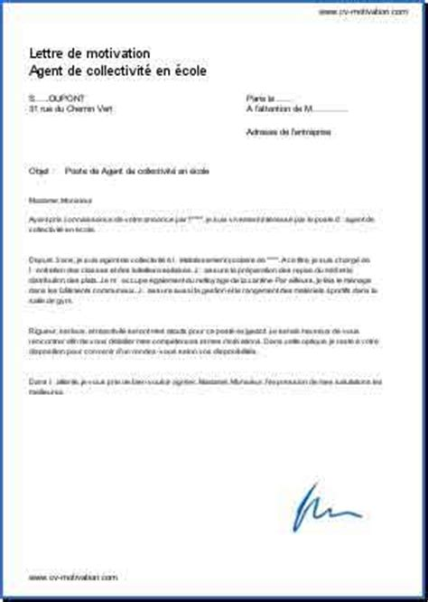 Exemple Lettre De Motivation Candidature Ecole De Commerce De Collectivit 233 En 233 Cole Courrier Pour Votre Candidature