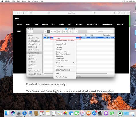 how to install iris on mac osx 10 12 sierra iris