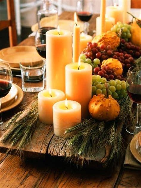 fall table setting party idea 30 natural thanksgiving decor ideas